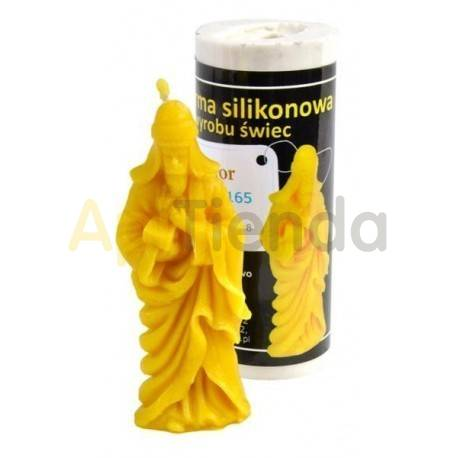 Navidad Molde Melchor                      Molde de silicona para elaborar velas de cera Forma - melchor