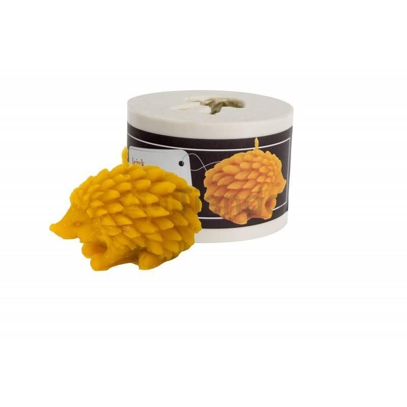 Moldes Molde erizo    Molde de silicona para elaborar velas de cera Forma - erizo Altura aprox. 45 mm Mecha recomendable