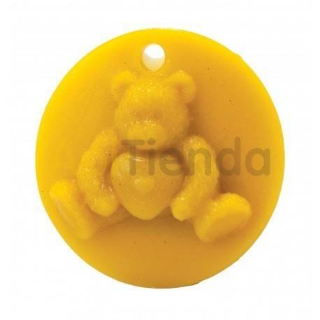 Moldes Molde oso con corazón, colgante    Molde de silicona para elaborar velas de cera Forma - Oso con corazón Altura apr