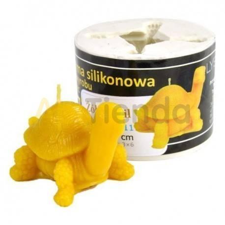 Moldes Molde tortuga   Molde de silicona para elaborar velas de cera Forma - tortuga Altura aprox. 45 mm Mecha recomendab