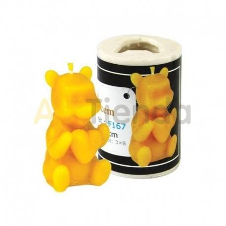 Moldes Molde oso con corazón    Molde de silicona para elaborar velas de cera Forma - Abejita Altura aprox. 50mm Mecha r