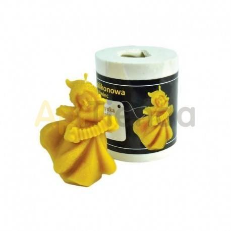 Moldes Molde chica con acordeón    Molde de silicona para elaborar velas de cera Forma - chica Altura aprox. 80mm Mecha