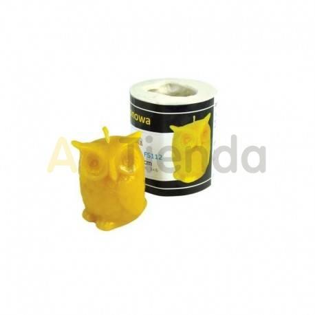 Moldes Molde Buho    Molde de silicona para elaborar velas de cera Forma - buho Altura aprox. 65 mm Mecha recomendable 3