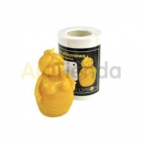 Moldes Molde abuela    Molde de silicona para elaborar velas de cera Forma - Abejita Altura aprox. 90mm Mecha recomendab