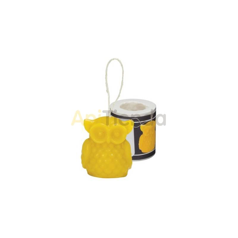 Moldes Molde buho, colgante    Molde de silicona para elaborar velas de cera Forma - Abejita Altura aprox. 40mm Gasto 15