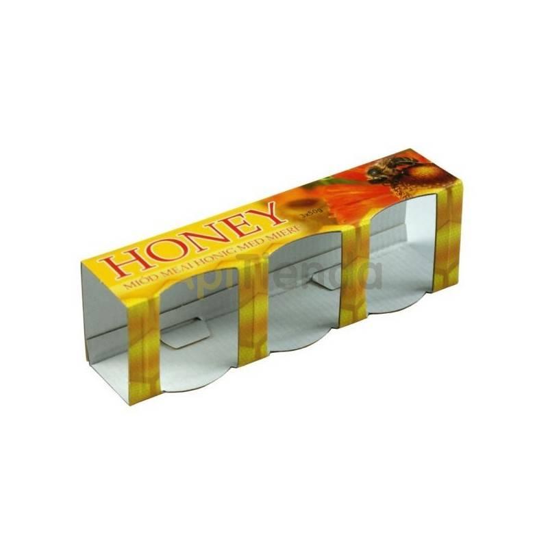 Caja decorativa 3 botes de 35ml (50g de miel)