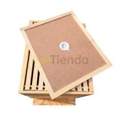 Colmenas de madera Colmena Langstroth Fija mod.1 Madera de pino calidad extra Tratada por fuera con aceite de linaza  Piquera