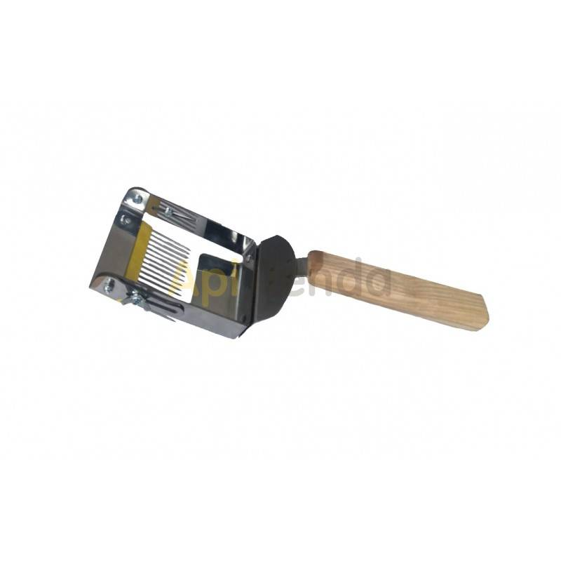 Desoperculado Peine de desopercular con puas invertidas Peine fabricado en acero inoxidable con mango de madera. Las púas inver