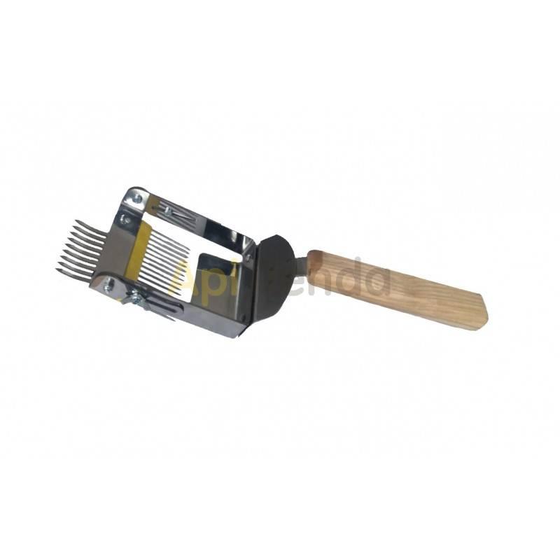 Desoperculado Peine de desopercular con puas invertidas PRO   Peine fabricado en acero inoxidable con mango de madera. Las pu