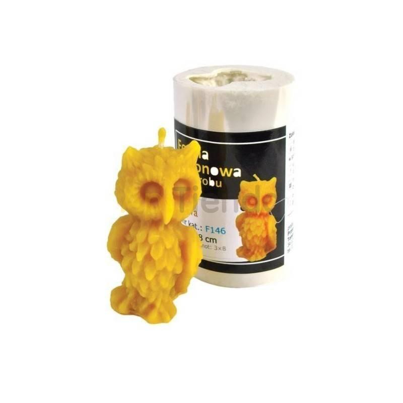Moldes Molde buho mod. 2 Molde de silicona para elaborar velas de cera Forma - buho Altura aprox. 75 mm Mecha recomendable