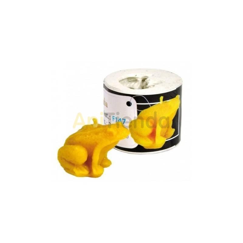 Moldes Molde rana sentada      Molde de silicona para elaborar velas de cera Forma - rana Altura aprox. 25 mm Mecha re