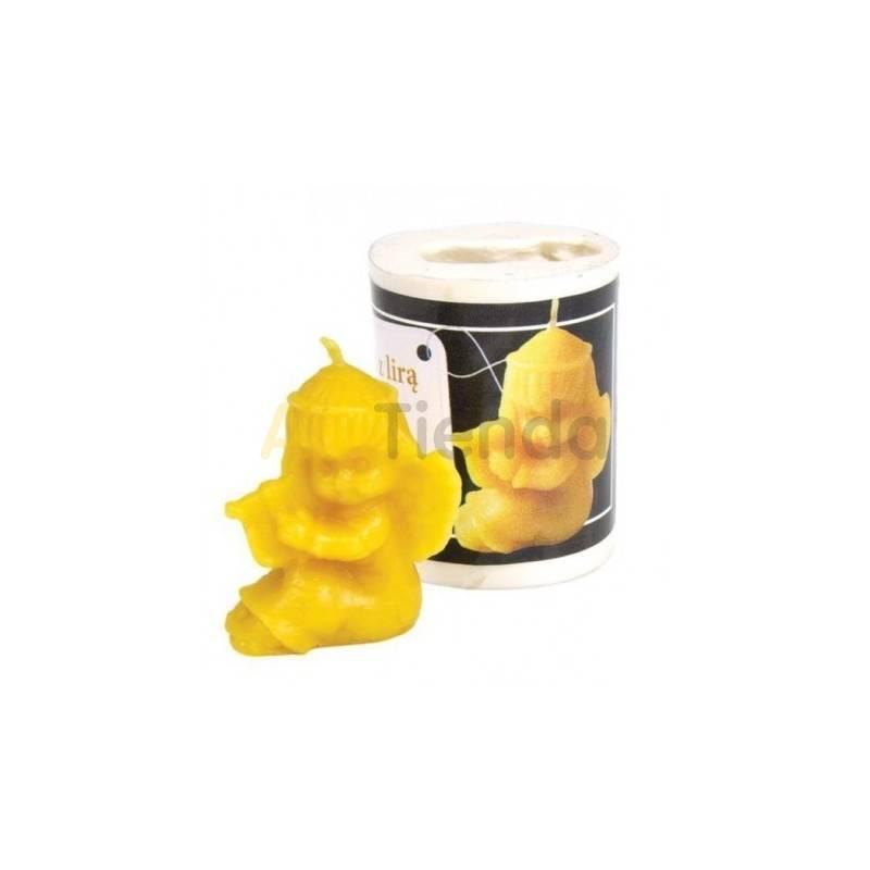 Moldes Molde Angel con lira  Molde de silicona para elaborar las velas de cera de abeja Forma - Angelito Altura aprox. 40 m