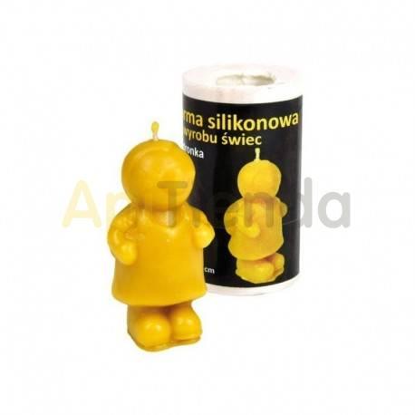 Moldes Molde mariquita Molde de silicona para elaborar velas de cera Forma - MARIQUITA Altura aprox. 65 mm Mecha recomendab