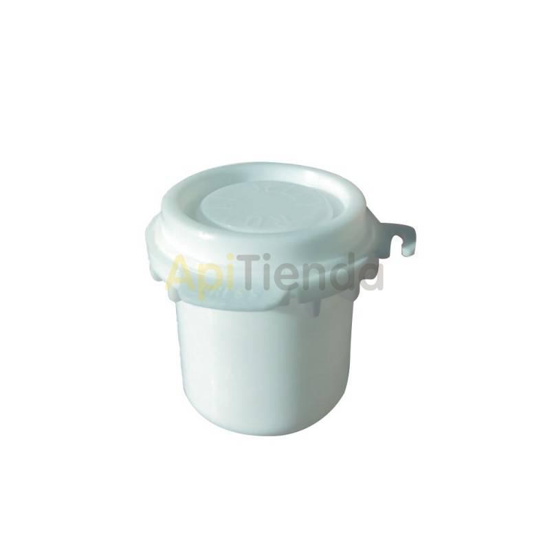 Reinas Envase de plástico alimentario para jalea real Bote para almacenar jalea real, plástico alimentario, cierre hermético.