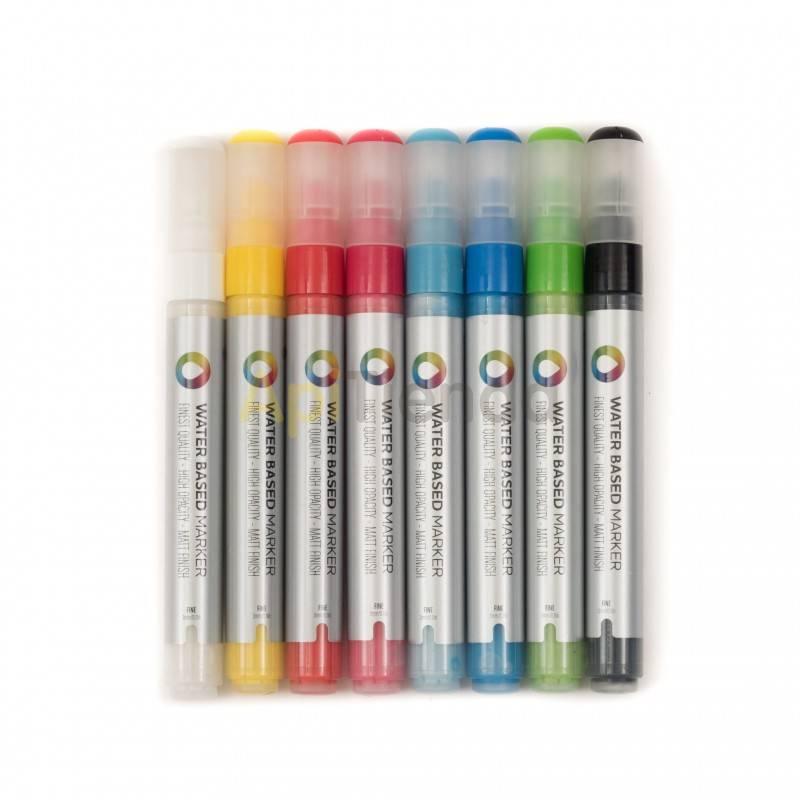Reinas Rotulador. Marcador reinas. MNT (Montana Colors) Rotuladores punta redonda de 3 mm.  Pintura base agua.  Recargables.  Su