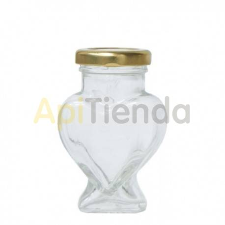 BOTE DE CRISTAL CORAZON 106ML (PACK 15 ud), CON TAPAS