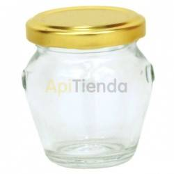 BOTE MINI-BARRIL CON ASAS 106ML + TAPA DORADA (PACK 15 ud)