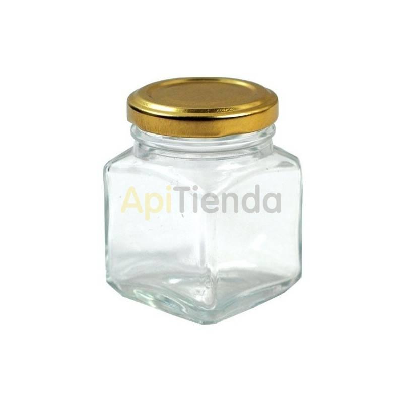 BOTE DE CRISTAL 120ML CUADRADO (PACK 15 ud.) CON TAPAS