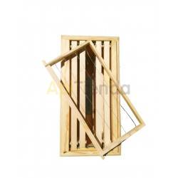 Núcleos Núcleo Langstroth  madera  Núcleo Langstroth de 5 cuadros LOS CUADROS NO INCLUIDOS Fabricados en madera de pino Piqu