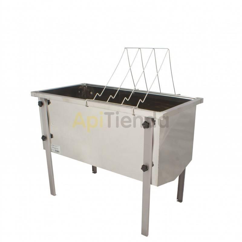 Maquinaria Cubeta desopercular 1000mm MINIMA Cubeta de desopercular 1000mm de largo Fabricada en acero inoxidable Con filtro de