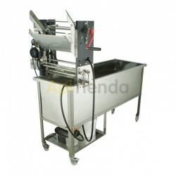 Desoperculadora semiautomática con cubeta