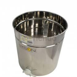 Inicio Madurador 70L (aprox. 100kg) Optima Madurador de miel fabricado en acero inoxidable con tapadera de acero inoxidable y va
