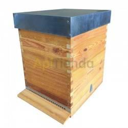 Colmenas de madera Colmena Fija Langstroth Dominguez fondo de madera Colmena de madera fija, para cuadro Langstroth del fabrican
