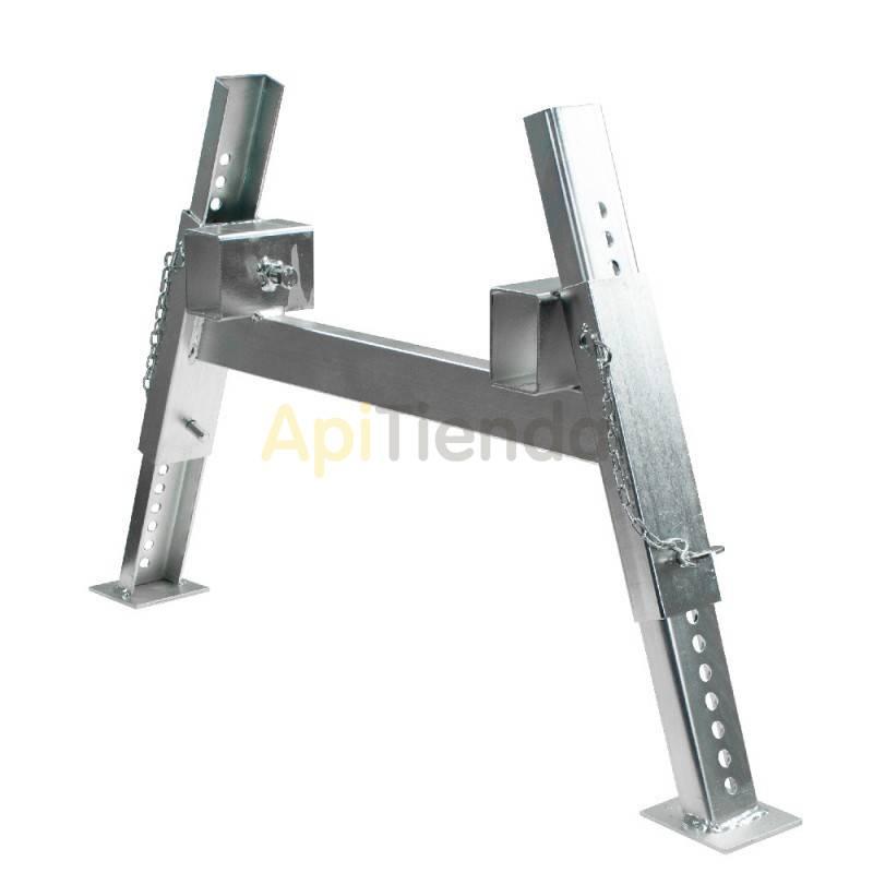 Accesorios y cuadros Soporte para colmenas Soporte galvanizado para colmenas. Para armar el soporte completo se requieren dos t