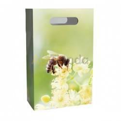 Bolsa de regalo -flores- cartón