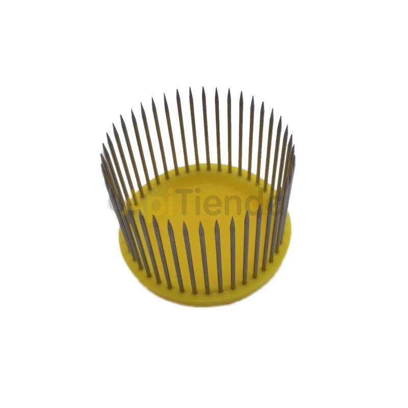 Reinas Jaula de púas Jaula redonda fabricada en plástico, puas en acero inoxidable. Ideal para proteger las celdillas reales