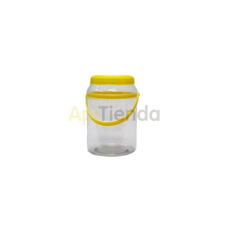 Botes Garrafa plástico TO85 (2KG) Garrafa de plástico P.V.C. de 2 kg. Capacidad: 14800 C.C. Altura: 178mm. Diámetro: 107 mm