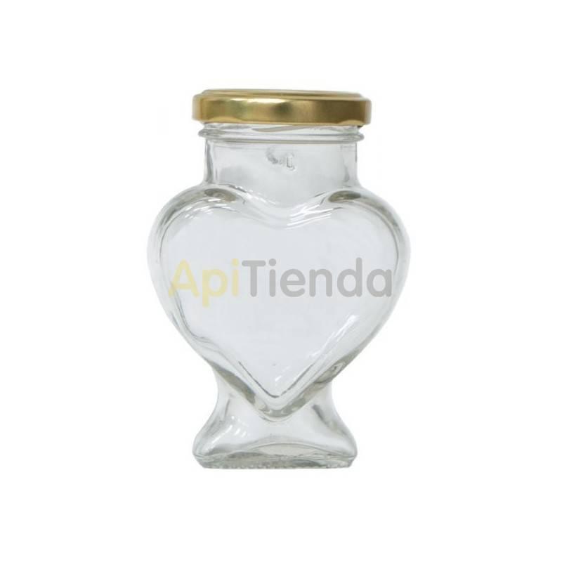 Bote de cristal figura CORAZON, con tapa, 106