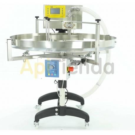 """Envasadoras y bombas de trasiego Envasadora con mesa rotativa y modulo en engranajes cilindricos """"PREMIUM Line"""" La mesa giratori"""
