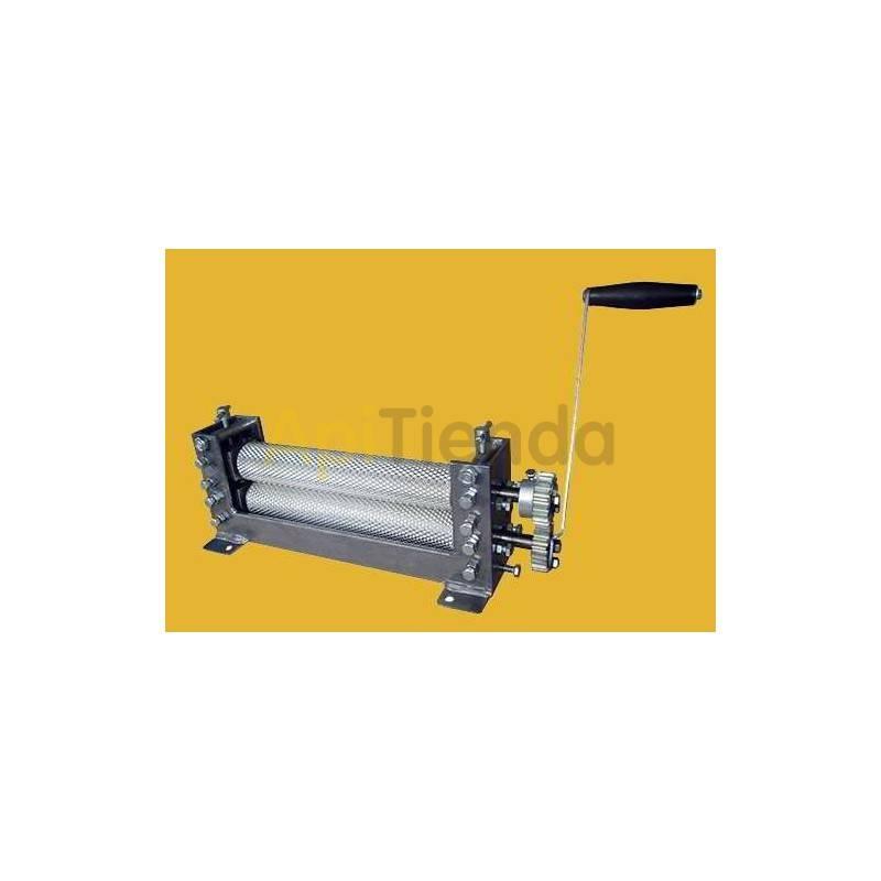 Estampado de cera Laminadora de cera rodillo grabado, manual Laminadora de cera manual Tamaño de celda disponible 5,4mm; 5mm o
