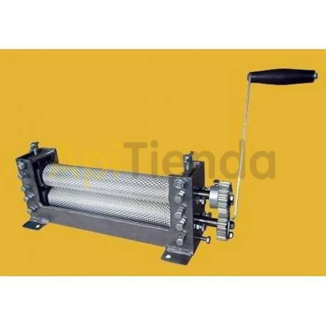Estampado de cera Laminadora de cera rodillo grabado, manual (celda zángano 7mm) Laminadora de cera Estampadora de cera manual