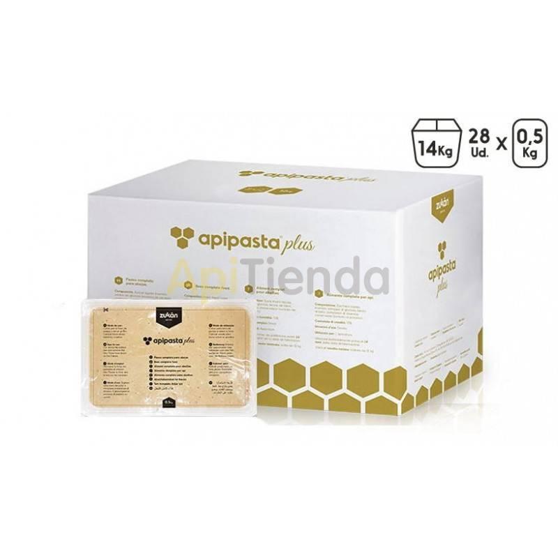 Alimentacion Apipasta Plus Proteico bandeja 0,5kg (Caja 14 kg) Alimento en pasta que actúa como sustituto del polen(i) (no compl