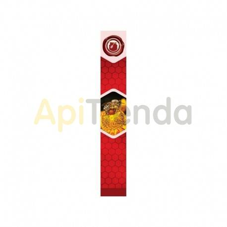 Etiquetas y precintos Precinto Rojo de tapa, 100 uds Precinto para botes con fondo rojo, adhesivo, pack de 100 uds.