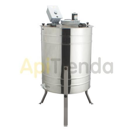 Extractores Extractor 4 cuadros UNIVERSAL tangencial, 230V + 12V MINIMA Un extractor de miel eléctrico de 4 cuadros se convertir