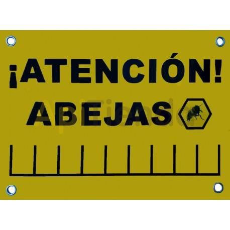 Cartel de aviso : Atencion Abejas