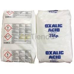 Ácido Oxálico 99%, saco - 25 KG, (10 sacos)