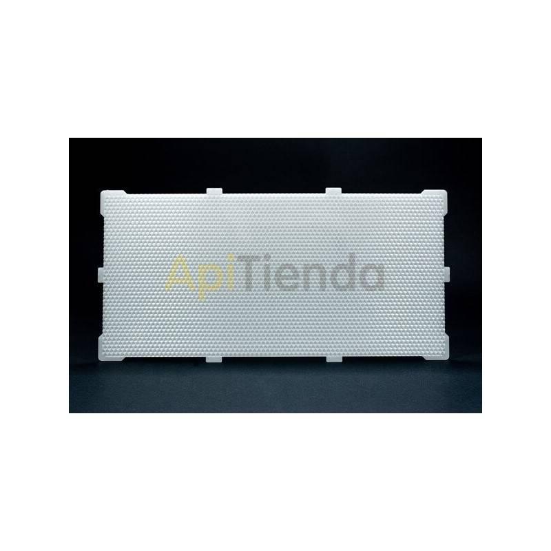 Colmenar Lámina de Plástico LANGSTROTH Tipo de material: Polipropileno alimentario Medidas lámina: 421x202x4,5 mm. (medidas sin