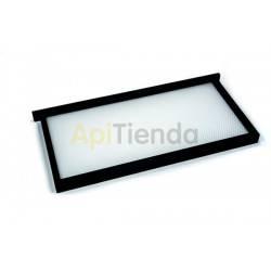 Colmenar Cuadro Plástico LANGSTROTH Tipo de material: Polipropileno alimentario y marco en Antichoque Medidas cuadro: 480x235x2