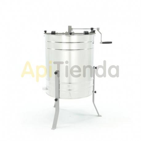 Extractor 4 cuadros Dadant, reversible manual.