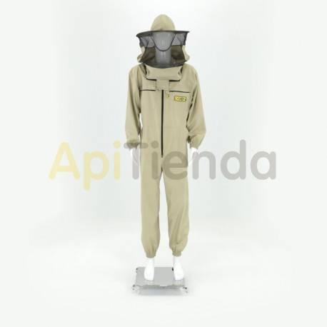 Vestuario Buzo apicultor careta redonda Classic  Careta redonda desmontable con doble gorro, alta seguridad. Tela fuerte de a
