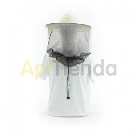 Caretas y accesorios Careta redonda, lino con malla detrás  Careta redonda apicultor con malla detrás Tela de lino