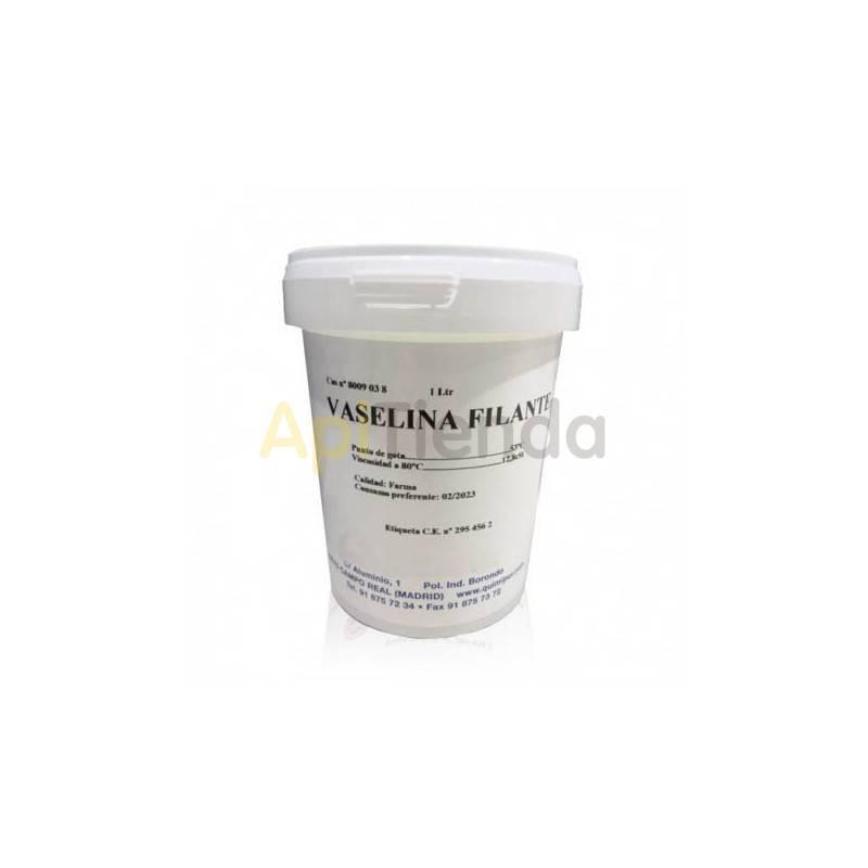 Sanidad Vaselina Filante 1L Vaselina filante . Las vaselinas son hidrófugas y sirven de excipiente en las industrias farmacéutic