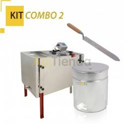 Combo Kit 2, - Extractor 4 frames, universal with deopercular bucket, Classic Line Ref. W20430 Adjustable legs. Stainless steel