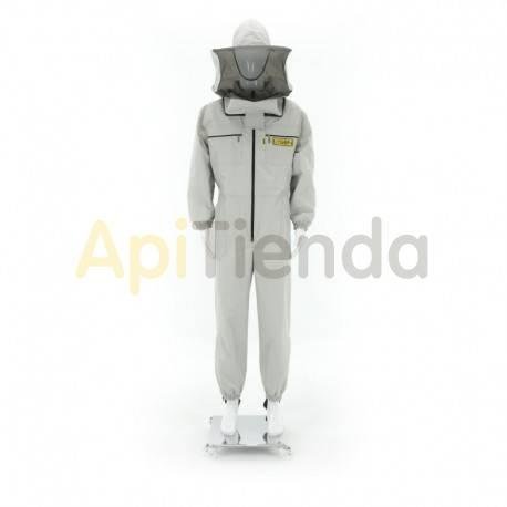 Vestuario Buzo apicultor con forro. Especial alérgicos Especial para alergicos Alta seguridad Color gris claro. Careta redond