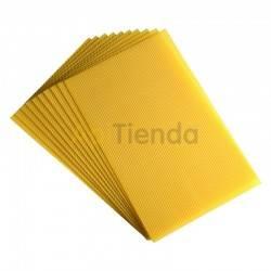 Cera  Cera estampada Langstroth rígida (Perfeccion) 5,4 mm Dimensiones de lamina aprox: 42x20 para cuadros Langstroth ( Perfecci
