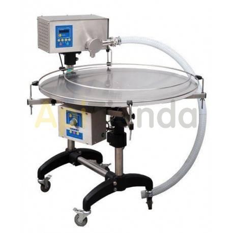 Envasadoras y bombas de trasiego Envasadora eléctrica con mesa rotativa Envasadora eléctrica con mesa rotativa, la productividad